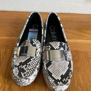 Calvin Klein snakeskin loafers